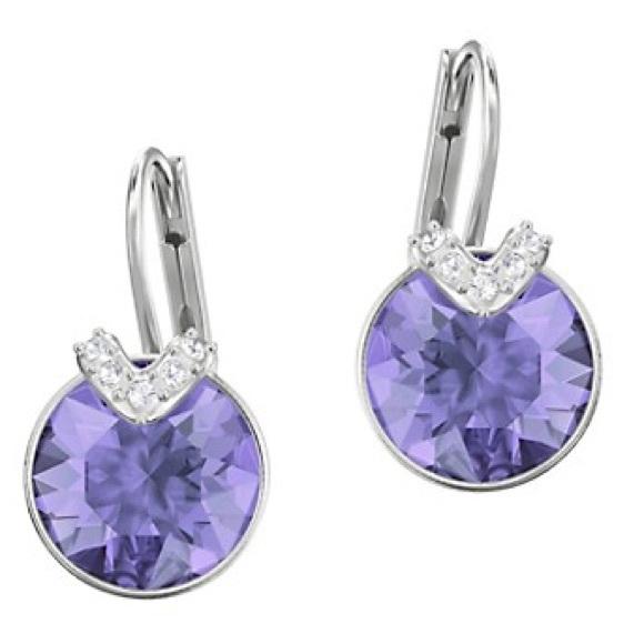 Swarovski Bella V Peirced Violet Earrings